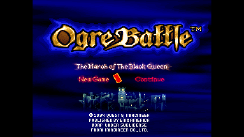 Ogre Battle Title Screen
