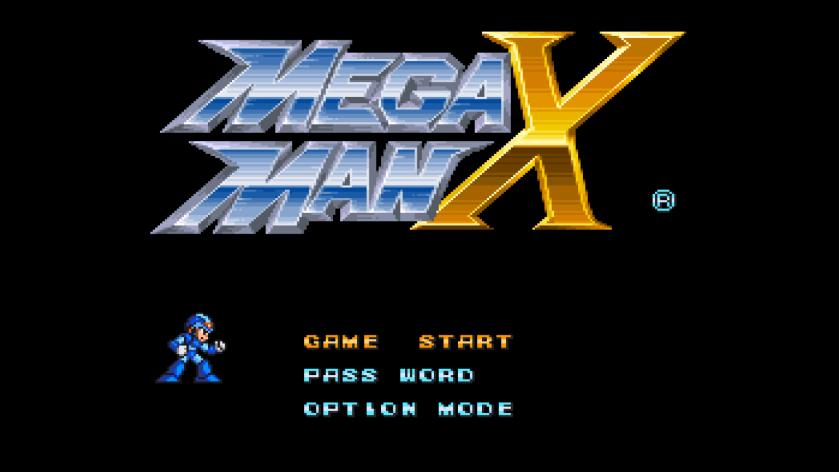 MegaMan X Title Screen