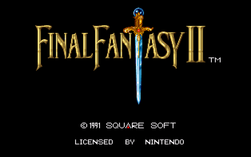 Final Fantasy II Title Screen