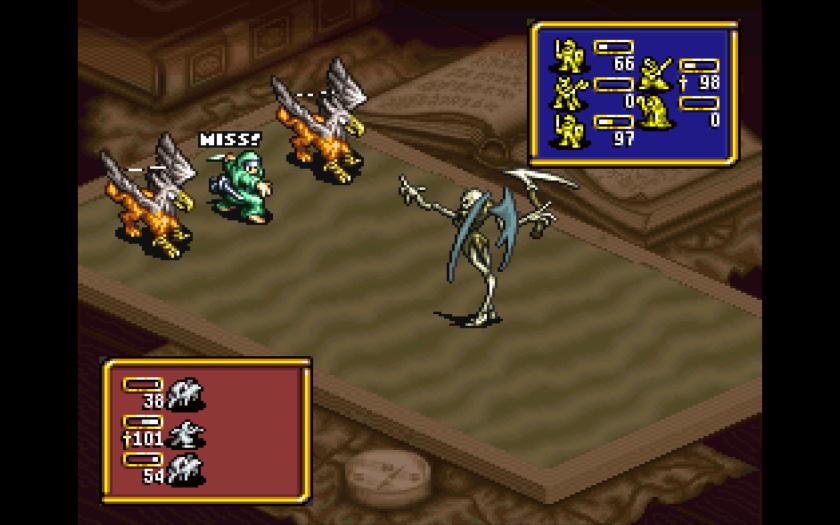Ogre Battle Battle Screen