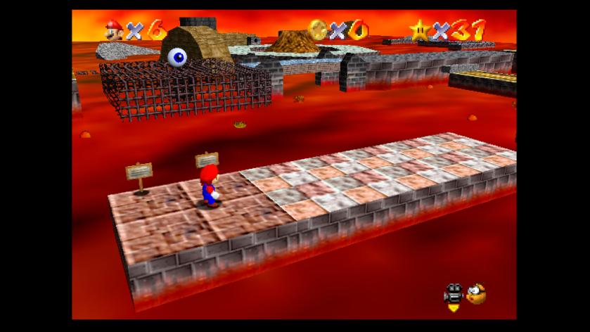 Super Mario 64 Lava