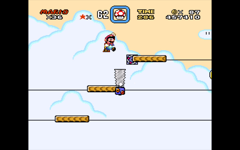 Super Mario World jumping