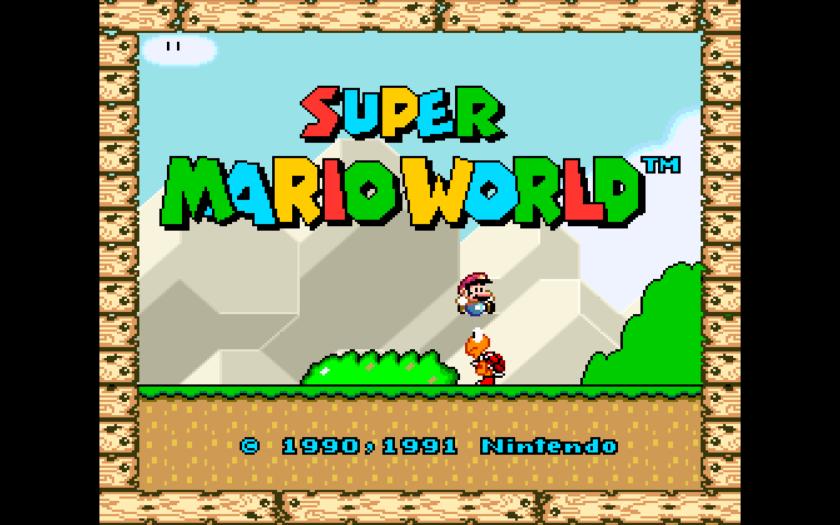 Super Mario World Title Screen