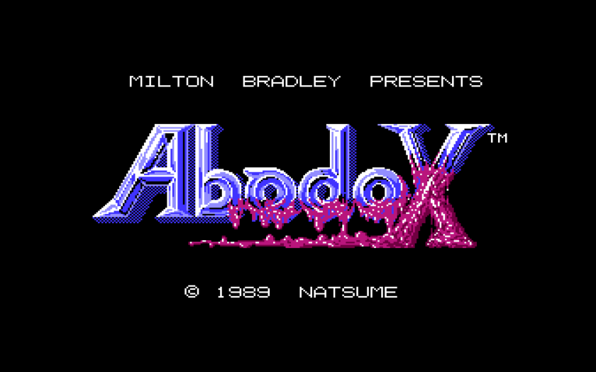 Abadox The Deadly Inner War Title Screen