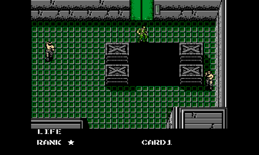 Metal Gear NES Pit Fall