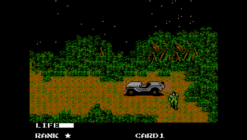 Metal Gear NES Scenery