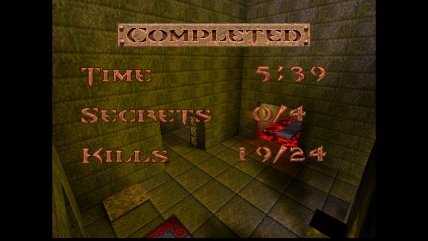 Quake End Screen