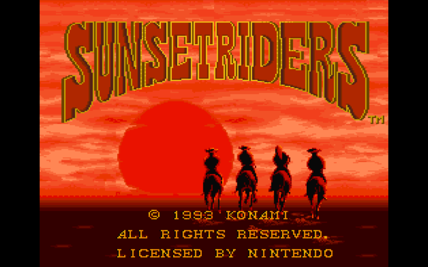 Sunset Riders Title Screen