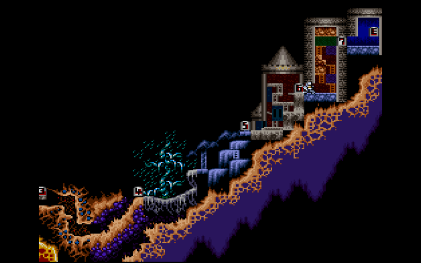Super Ghouls 'n Ghosts Map