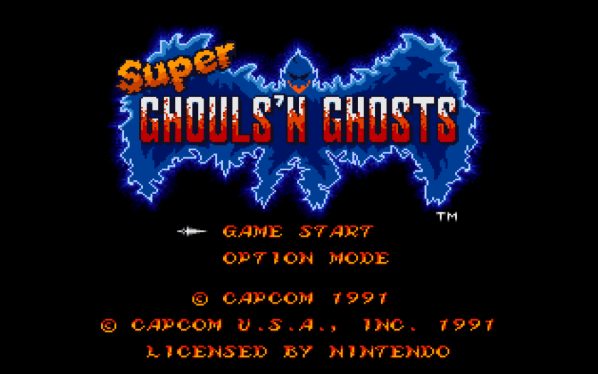 Super Ghouls 'n Ghosts Title Screen