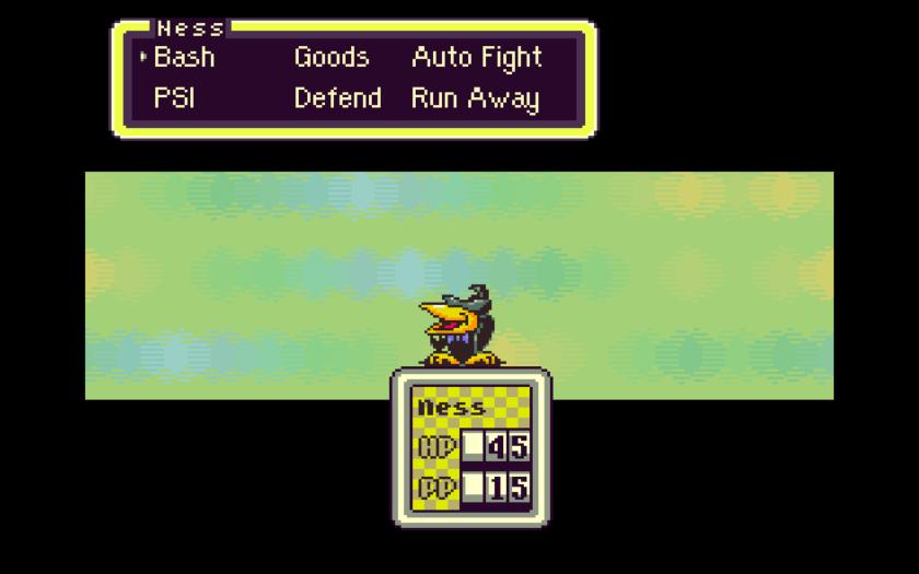 Earthbound SNES battles