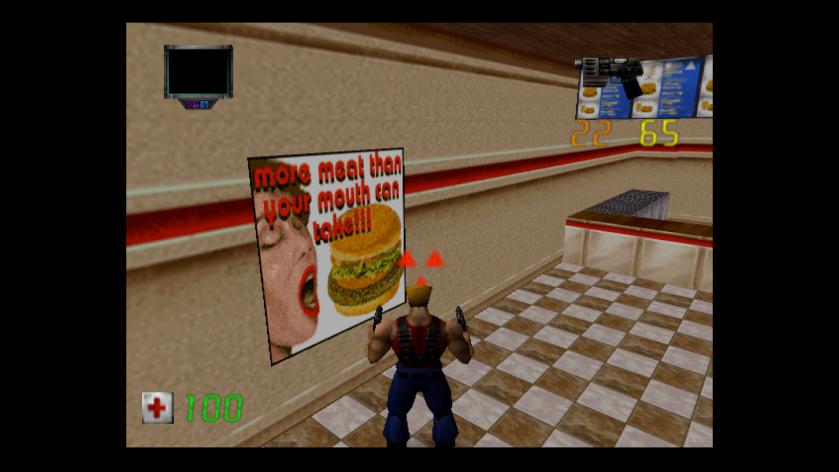 Duke Nuke Zero Hour N64 Burgers