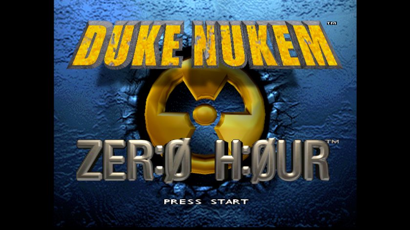 Duke Nukem Zero Hour Title Screen