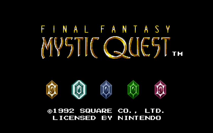 Final Fantasy Mystic Quest Title Screen