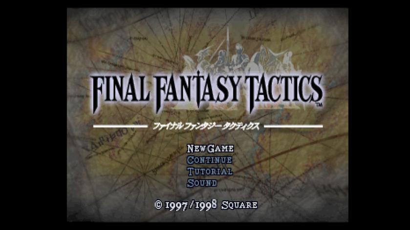 Final Fantasy Tactics Title Screen