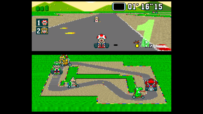 Super Mario Kart SNES Victorry