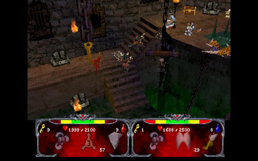 Gunatlet Legends N64 pixelated nightmare