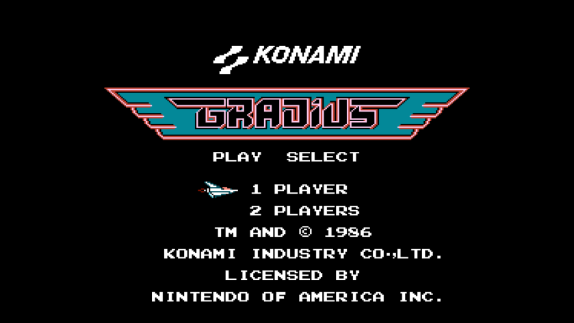 NES Gradius Title Screen
