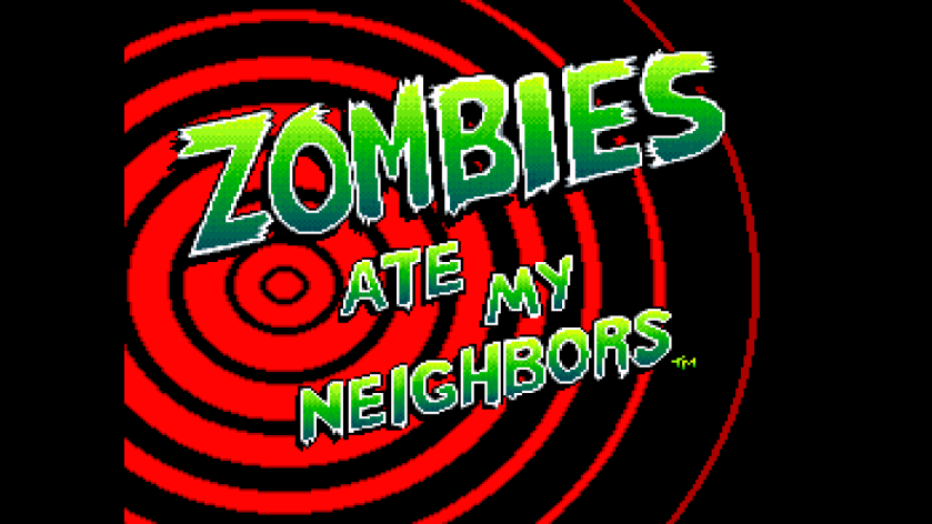 Zomebies Ate My Neighbors Title Screen