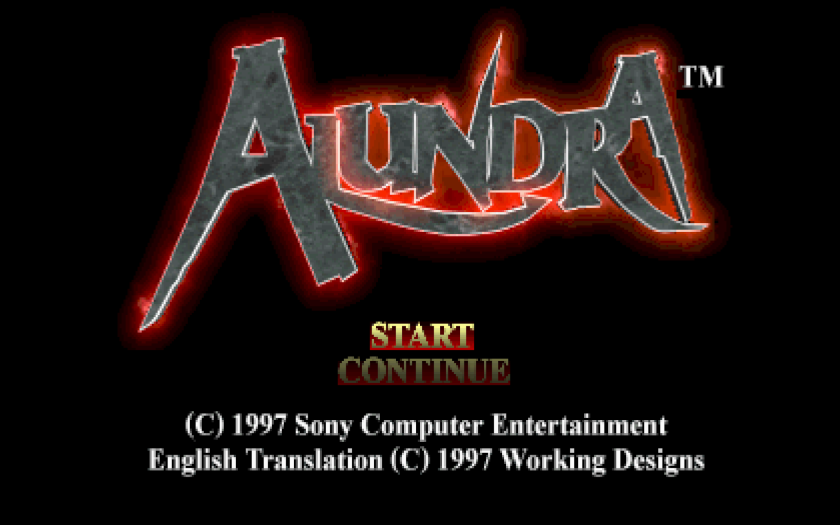 Alundar Psone Title Screen