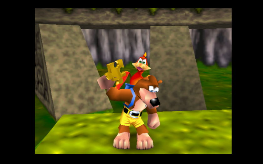 Puzzle Pieces Banjo and Kazooie n64