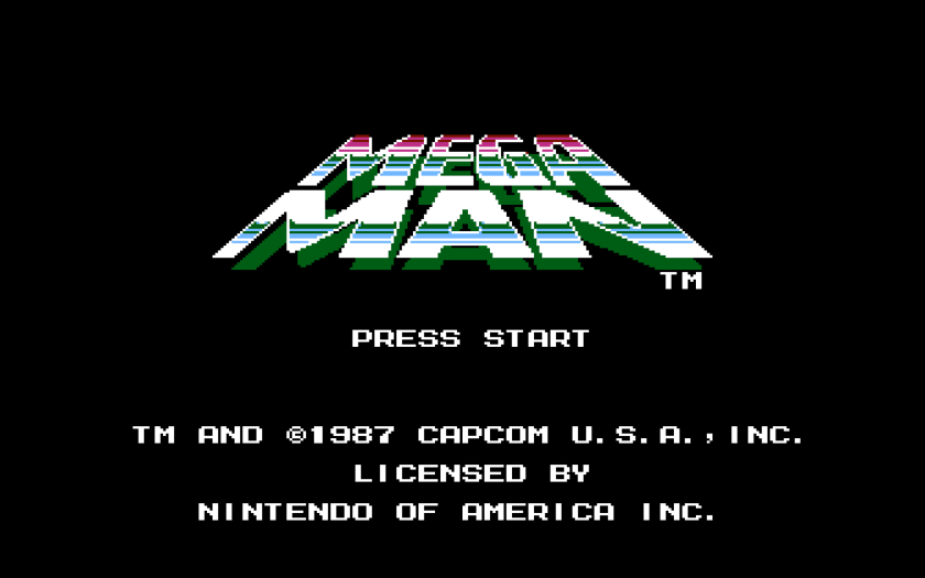 Mega Man NES Title Screen