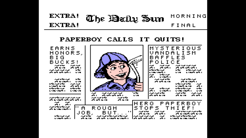 Local Paper Covers Paper Boy NES