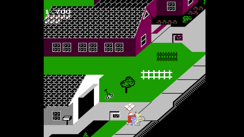 Paperboy Cut down in line of duty NES