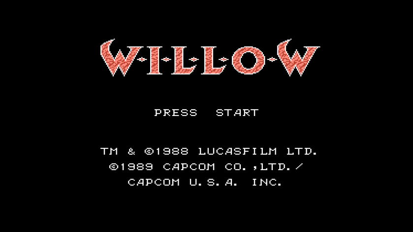 Title Screen Willow NES